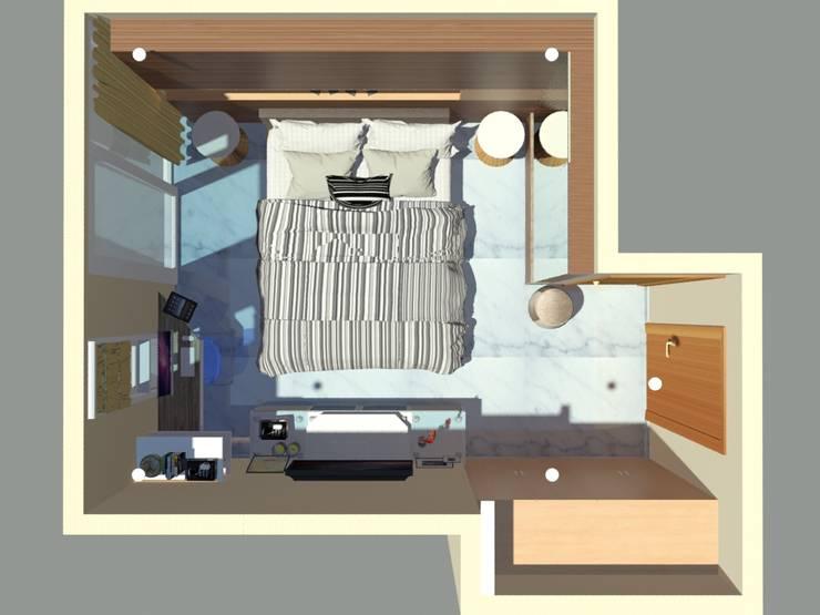 Layout Plan:  Kamar Tidur by Vaastu Arsitektur Studio