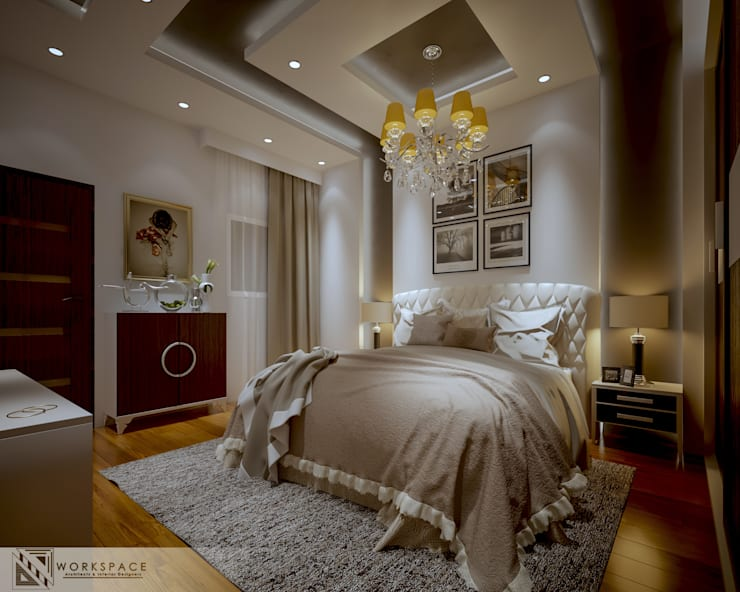 Fainted light | Modern Bedroom :  Bedroom by WORKSPACE architects & interior designers