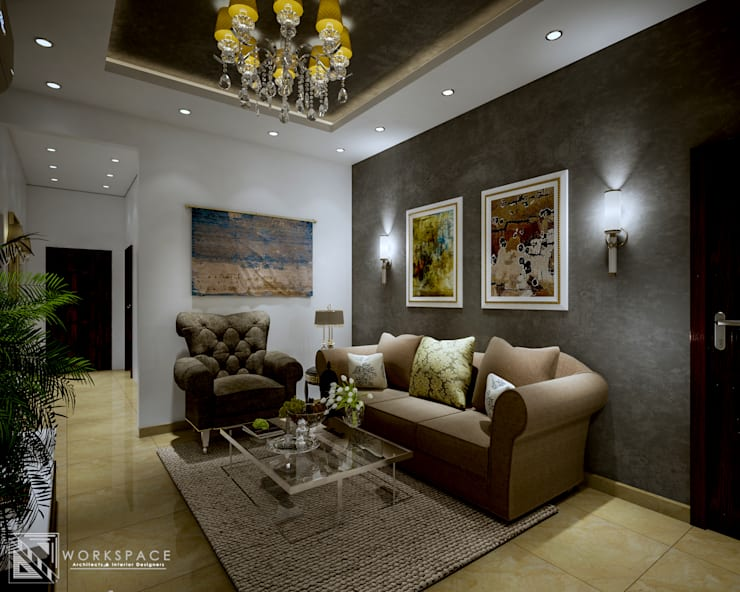 Space for us   Family room: mediterranean Living room by WORKSPACE architects & interior designers