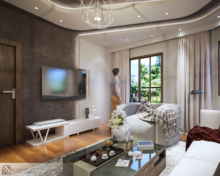 Ultra modern | Living room:   by WORKSPACE architects & interior designers