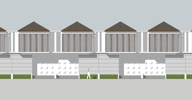 Front view (2d):   by HRW architect