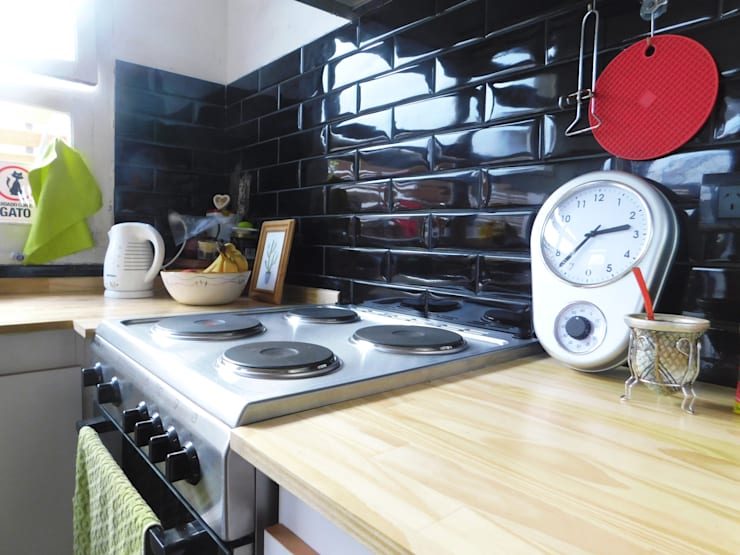 Detalle Mesada Reforma Cocina.: Cocinas de estilo  por Dsg Arquitectura ,