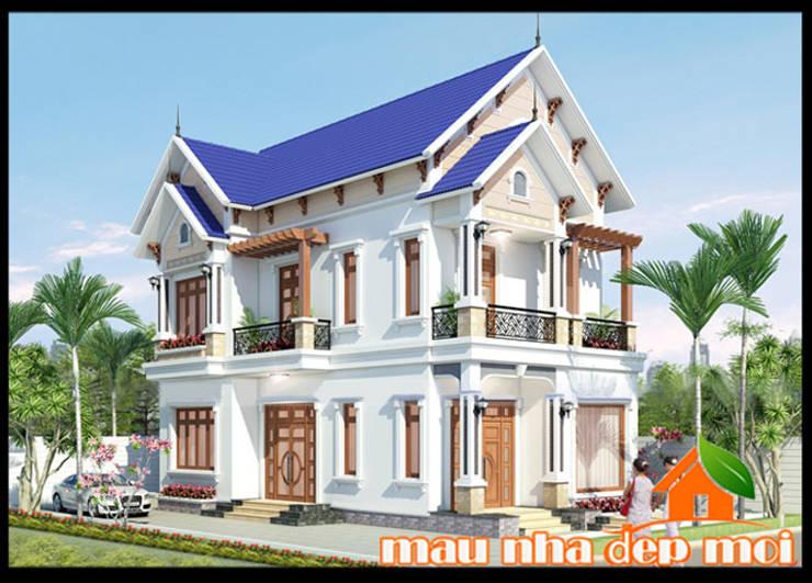 Kiến trúc có tính dân tộc và tính địa phương phong phú, có bản sắc riêng biệt:  Biệt thự by Công ty TNHH TKXD Nhà Đẹp Mới
