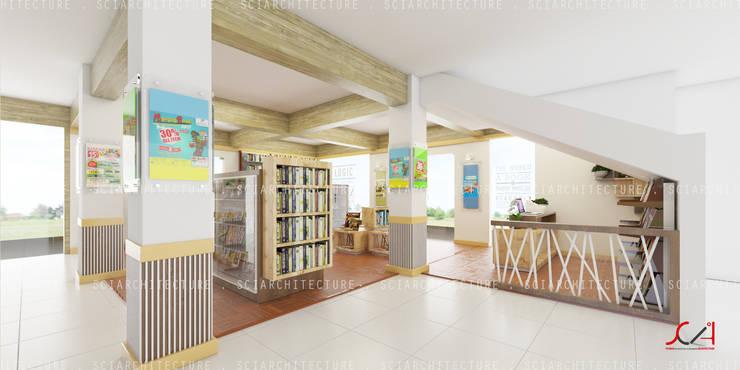 Офисы и магазины в . Автор – SCIArchitecture, Минимализм Фанера