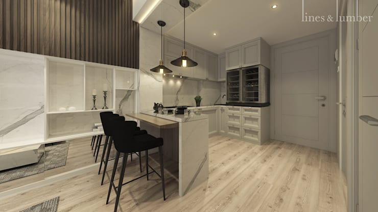 مطبخ تنفيذ Lines & Lumber