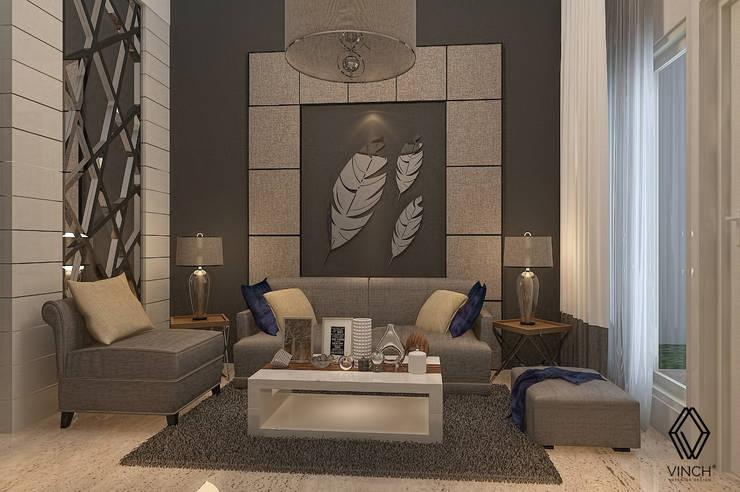 Livingroom :  Ruang Keluarga by Vinch Interior