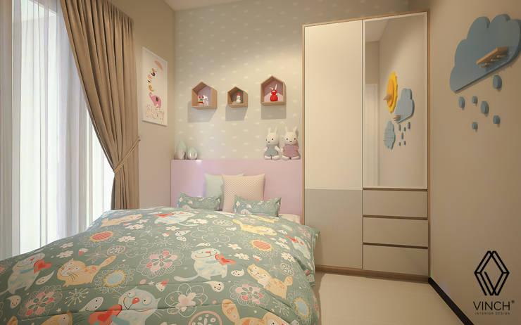 Girl's Bedroom:  Kamar tidur anak perempuan by Vinch Interior