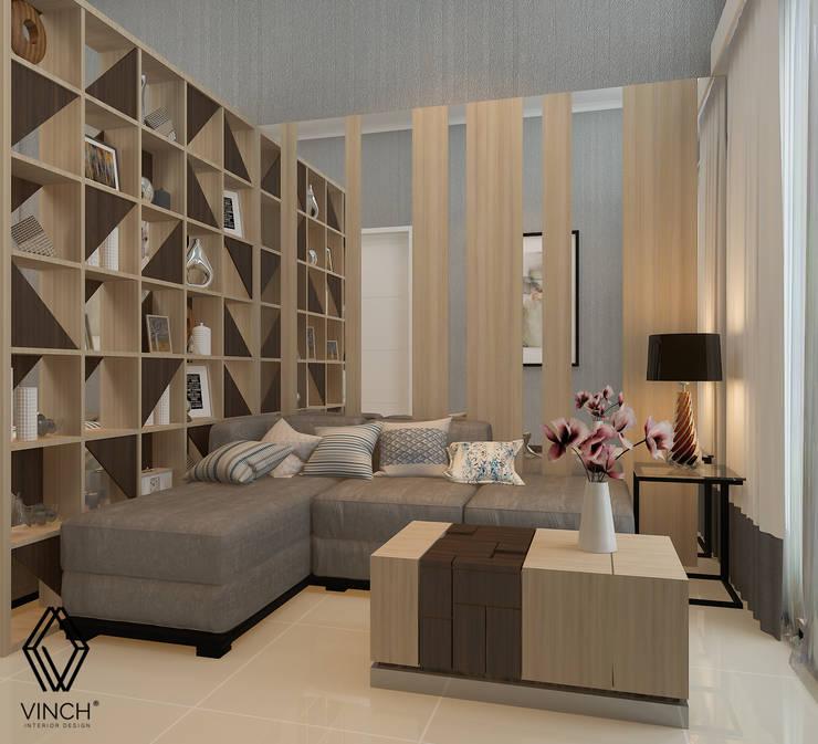 Parlor Area:  Ruang Keluarga by Vinch Interior