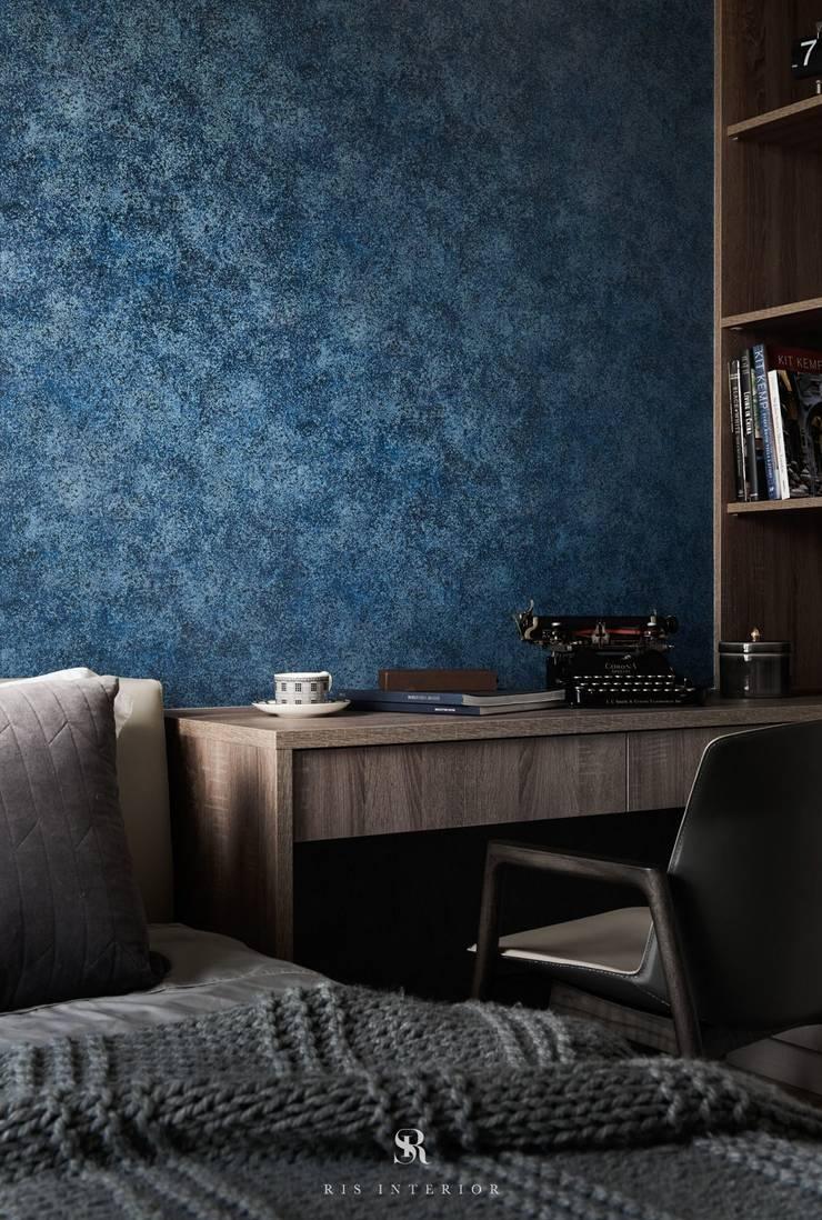 璀璨.脈脈|Van der Vein:  臥室 by 理絲室內設計有限公司 Ris Interior Design Co., Ltd.