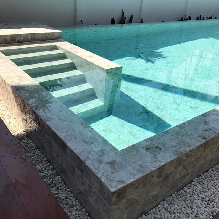 Private Pool House:   by S.O.S ARCHITECTS
