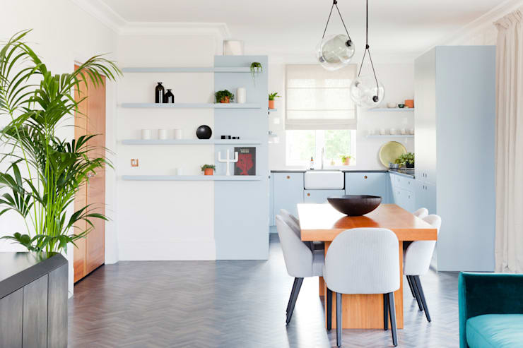 Kew Penthouse Moderne Küchen von NAKED Kitchens Modern Holz Holznachbildung