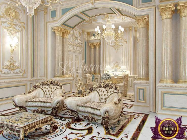   Fashionable classics in interiors Katrina Antonovich:  Living room by Luxury Antonovich Design