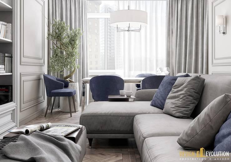 Salas / recibidores de estilo  por Design Evolution, Clásico