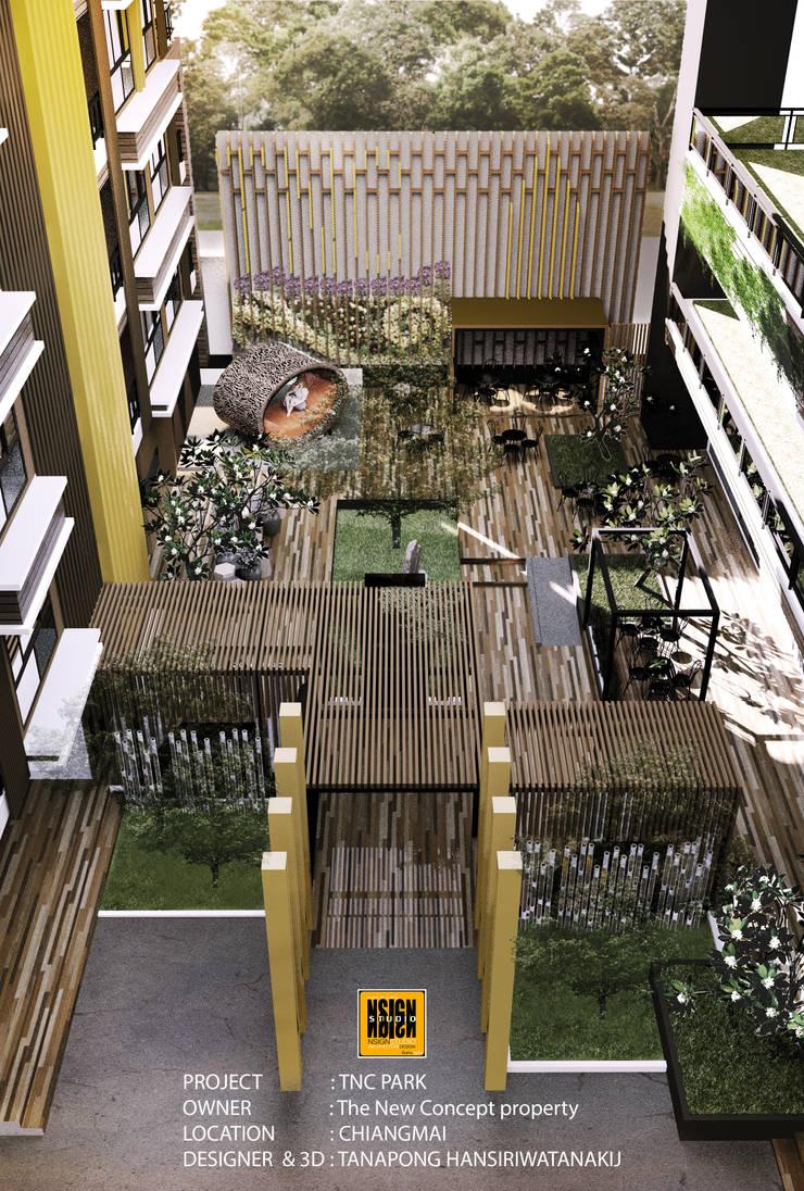 TNC Park:  ระเบียง นอกชาน by NSign Studio