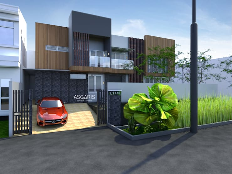 House at Taman Ratu:  Rumah tinggal  by ASGARIS studio