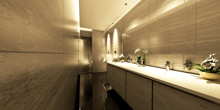 Public Toilet Apartment:  Kamar Mandi by ASGARIS studio