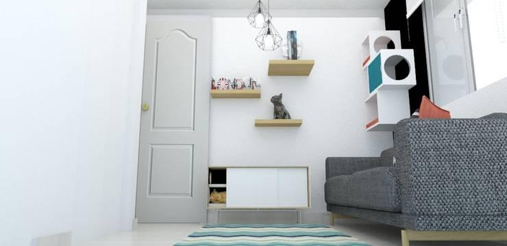 habitacion funcional : Habitaciones de estilo  por Naromi  Design
