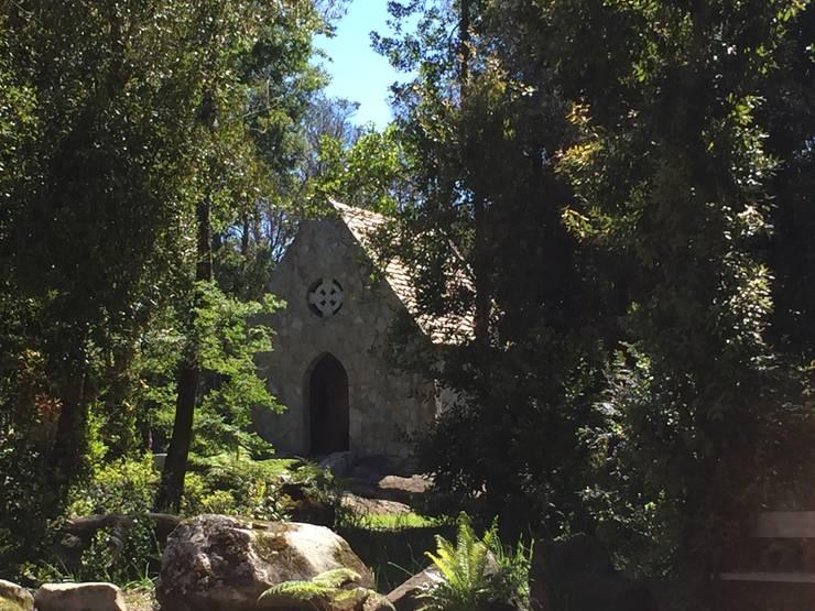 Capilla celta en el bosque: Casas de estilo  por David y Letelier Estudio de Arquitectura Ltda.