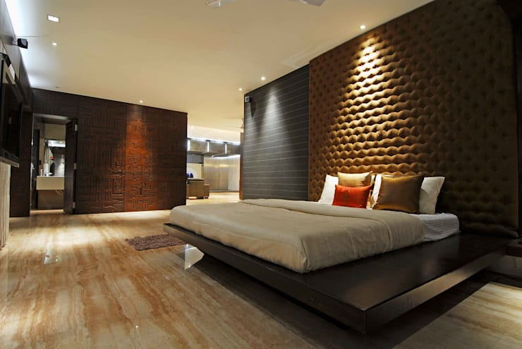 Bandra Residence:  Bedroom by SM Studio