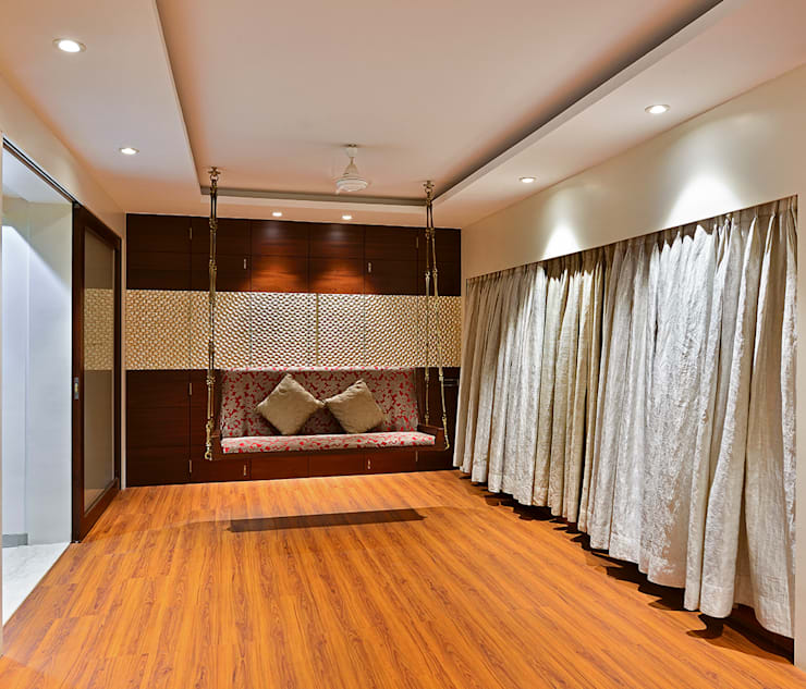 Khar Residence: modern Media room by SM Studio