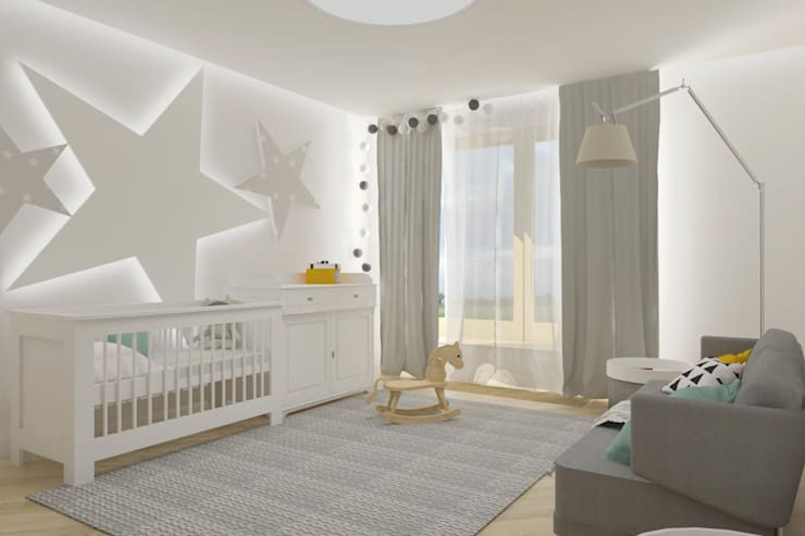 غرف الرضع تنفيذ SO INTERIORS ARCHITEKTURA WNĘTRZ