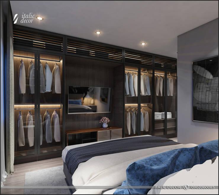 CĂN HỘ CAO CẤP ECOLIFE:  Phòng ngủ by ITALIC DECOR