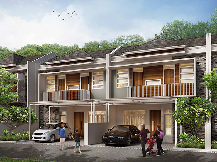 Grand Saturnus Residence:  Rumah tinggal  by Ashari Architect