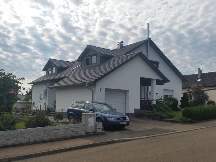 Komplettsanierung eines EFH | Projekt AA | vorher - nachher: moderne Häuser von a r c h i t e k t u r b ü r o grimm
