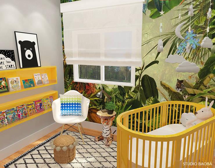 Baby Room in Den Haag:  Babykamer door Studio Baoba, Modern