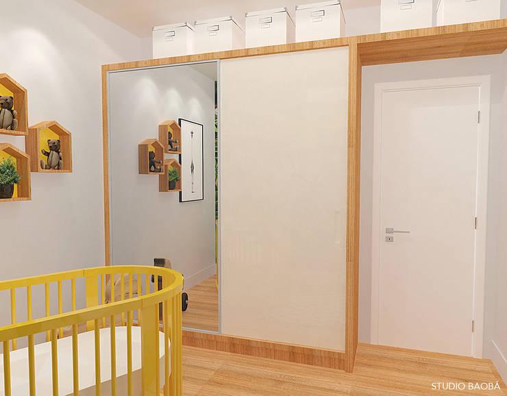 Baby Room in Den Haag:  Kinderkamer door Studio Baoba, Modern