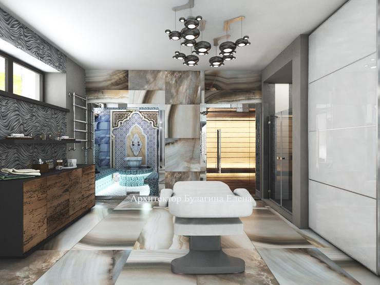 Загородный дом – цокольный этаж Новорижское шоссе 19 км: Спа в . Автор – Архитектурное Бюро 'Капитель', Эклектичный