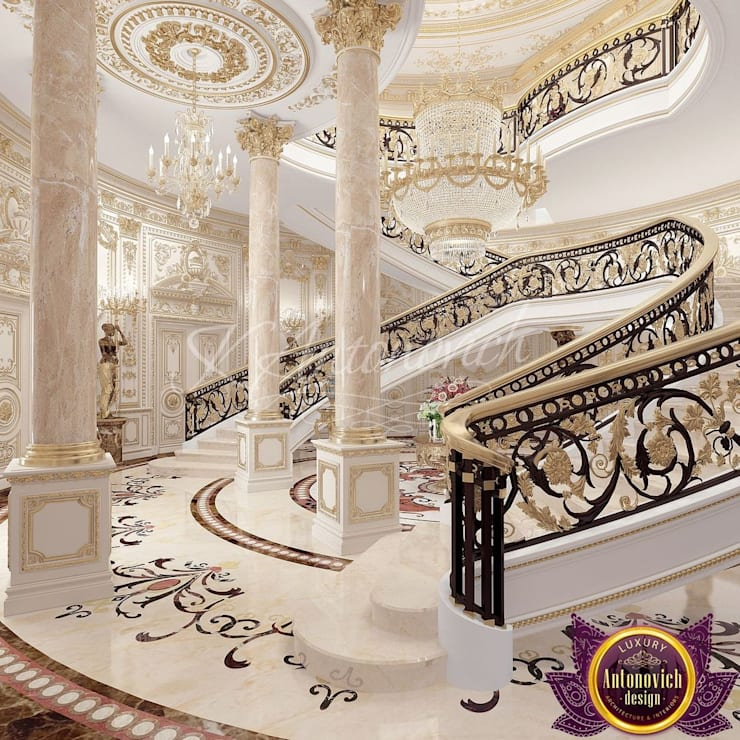 House design in Kenya by Katrina Antonovich:  Corridor & hallway by Luxury Antonovich Design