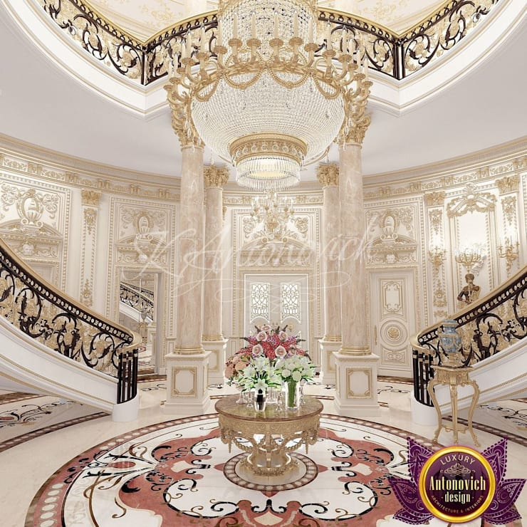 House design in Kenya by Katrina Antonovich:  Corridor & hallway by Luxury Antonovich Design, Classic