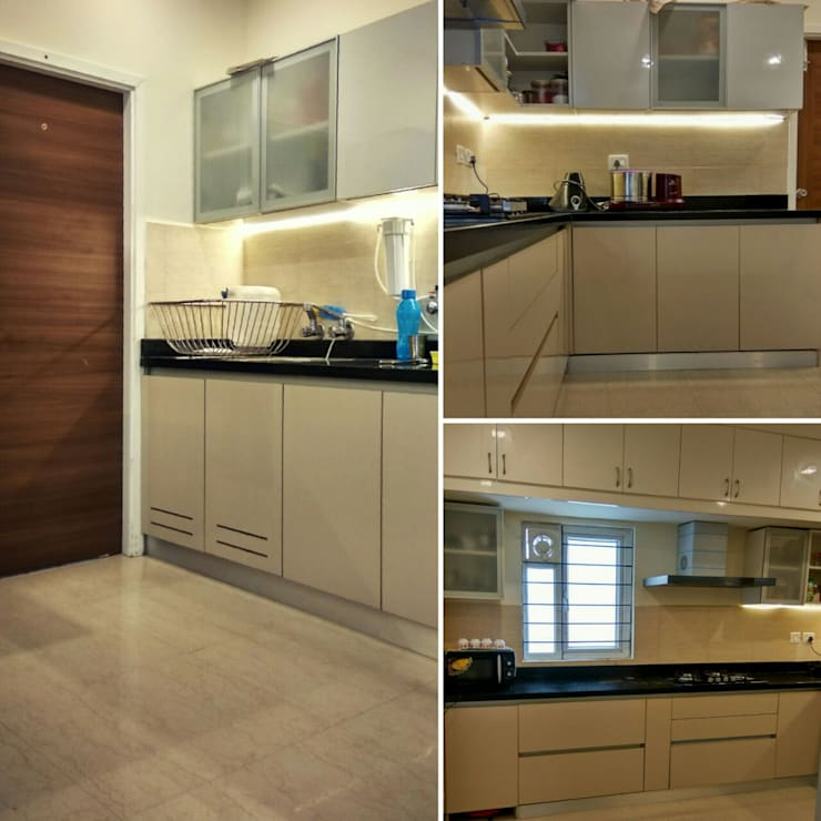Kitchen:  Built-in kitchens by WOODLIFE INTERIOR PRIVATE LTD