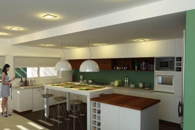Render Mueble de Cocina: Cocinas de estilo  por Dsg Arquitectura ,