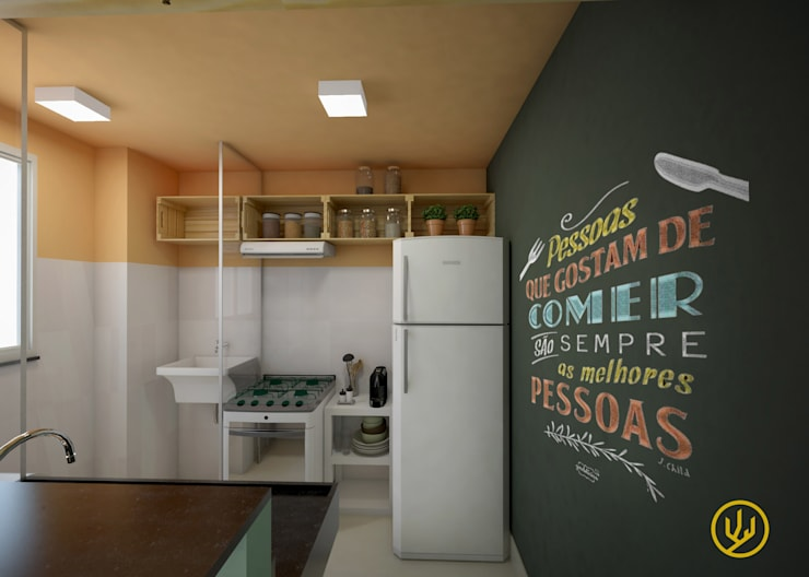 Cocinas de estilo topical por Yuri Rebello - Arquitetura Consciente
