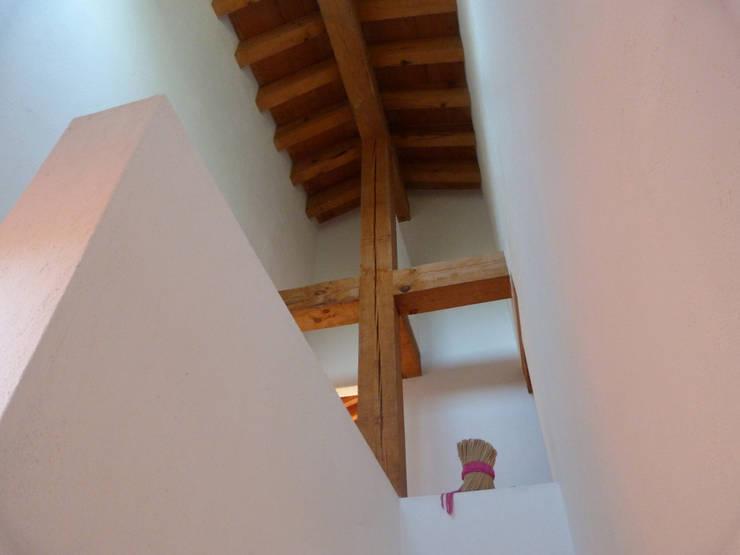 Casa PT-A: Vestíbulos, pasillos y escaleras de estilo  por VÁZQUEZ DEL MERCADO - ARQUITECTURA