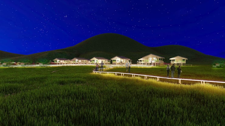 TUONG SON CONTRYSIDE RESORT:  Nhà by NPAGROUP CO.,LTD