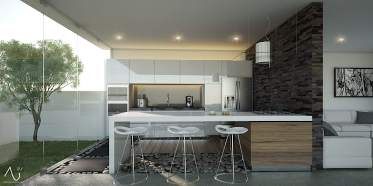 Vista Cocina: Cocinas de estilo minimalista por 21arquitectos