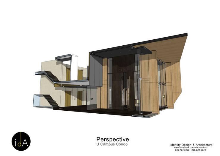 โครงการ ออกแบบตกแต่ง ส่วนโถงต้อนรับ U-Campus condo :  ตกแต่งภายใน by Identity Design & Architecture Part.,Ltd
