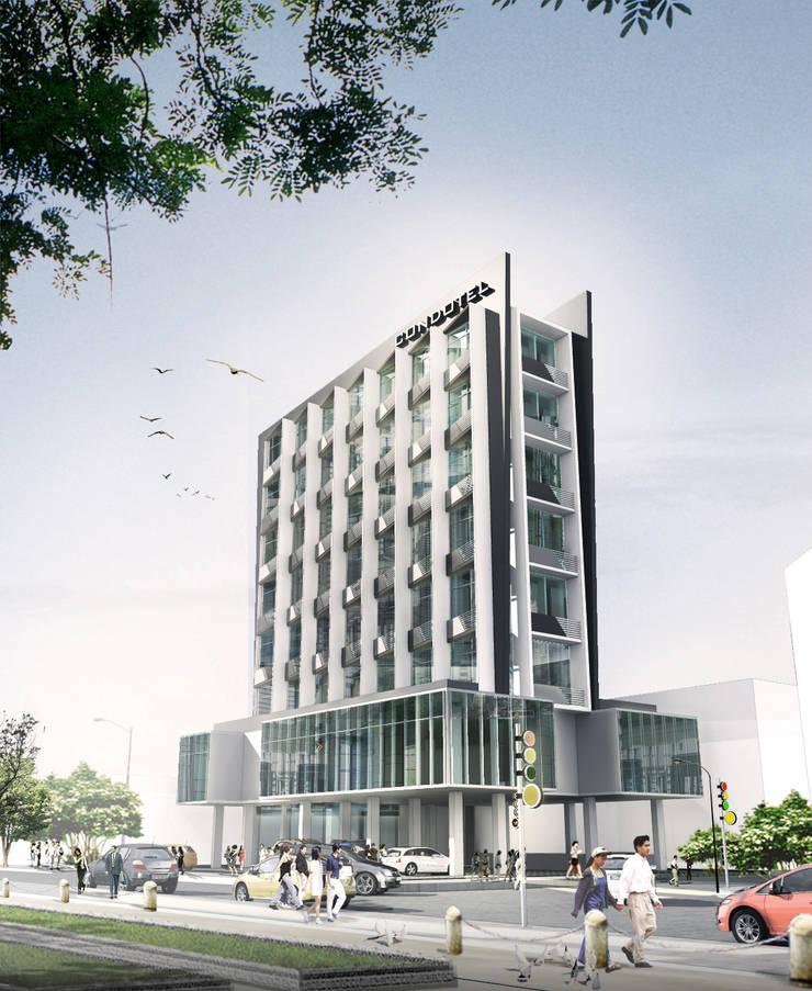CEMPAKA PUTIH CONDOTEL - JAKARTA UTARA:  Hotels by IMG ARCHITECTS
