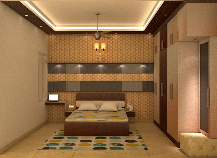 Mantri Webcity, Duplex 3 BHK—Mr. Vishal:  Bedroom by DECOR DREAMS,Modern