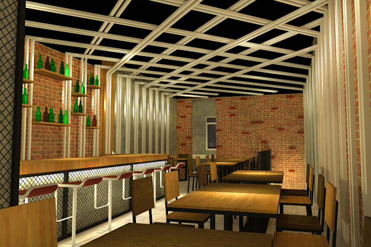 HUNGRILL BISTRO & BAR - TANGERANG SELATAN, BANTEN:  Bar & Klub  by IMG ARCHITECTS