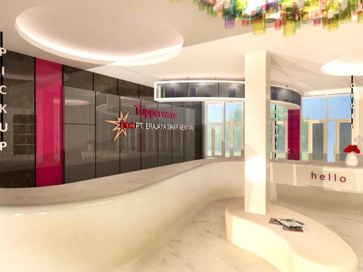 TUPPERWARE OFFICE & SHOWROOM - BANJARMASIN, KALIMANTAN SELATAN:  Gedung perkantoran by IMG ARCHITECTS