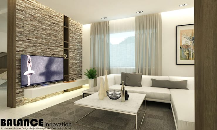 Living Room:   تنفيذ Balance Innovation