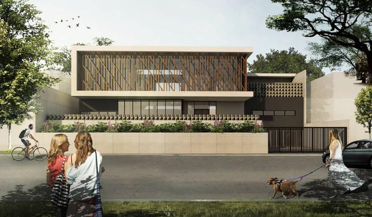 SETRA DUTA HOUSE - BANDUNG, JAWA BARAT: Rumah oleh IMG ARCHITECTS, Modern