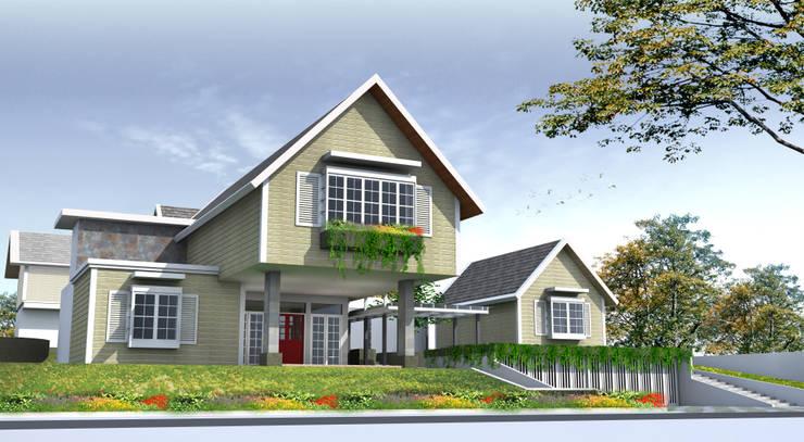 LAMBUNG MANGKURAT HOUSE - BANJARMASIN, KALIMANTAN SELATAN:  Rumah by IMG ARCHITECTS