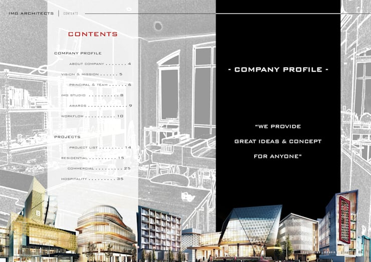 CONTENTS:  Gedung perkantoran by IMG ARCHITECTS