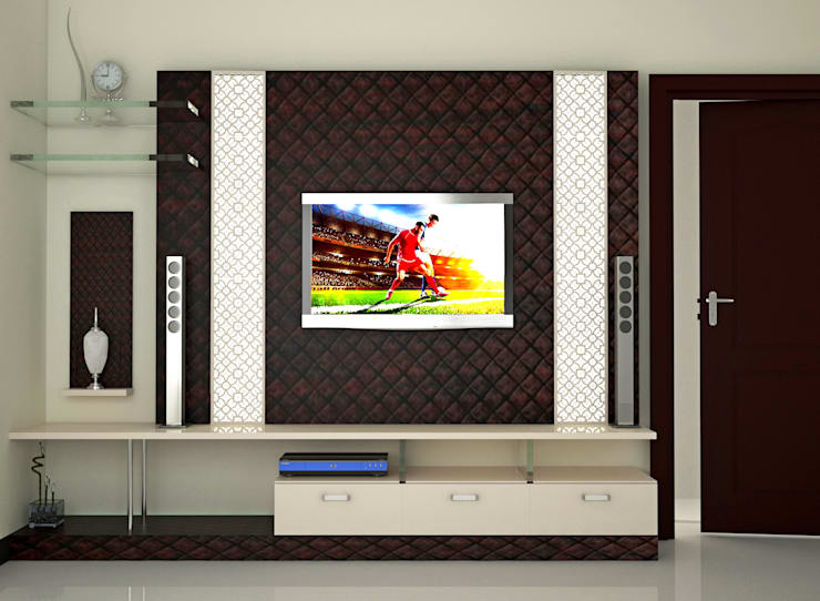 Independent Bungalow, RR Nagar - Mr. Mohan:  Living room by DECOR DREAMS