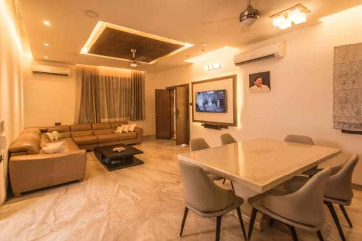 Best Interior Designers In Hyderabad: eclectic Dining room by SCA Projects Pvt Ltd